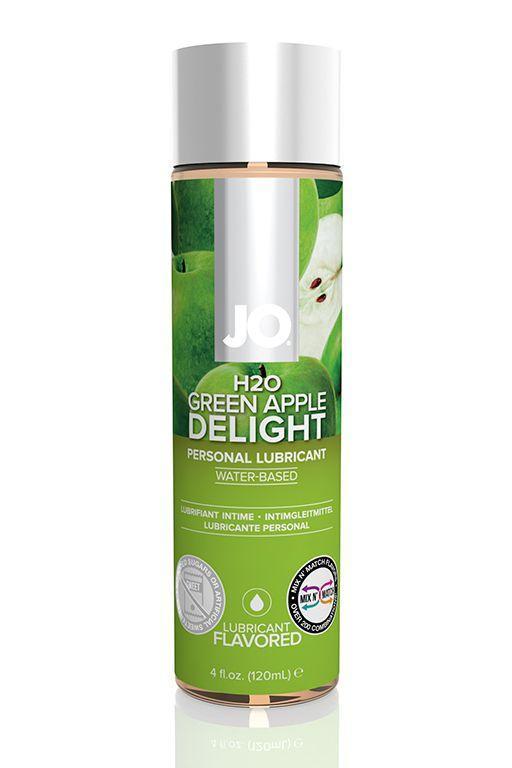 Ароматизированный лубрикант на водной основе JO Flavored Green Apple H2O - 120 мл.-8569