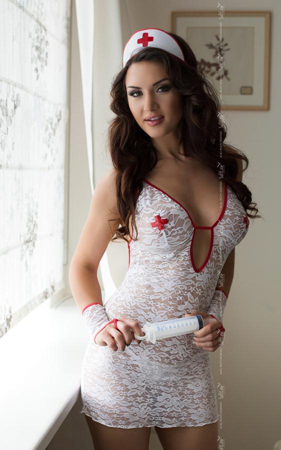 Ажурный костюм медсестры: сорочка