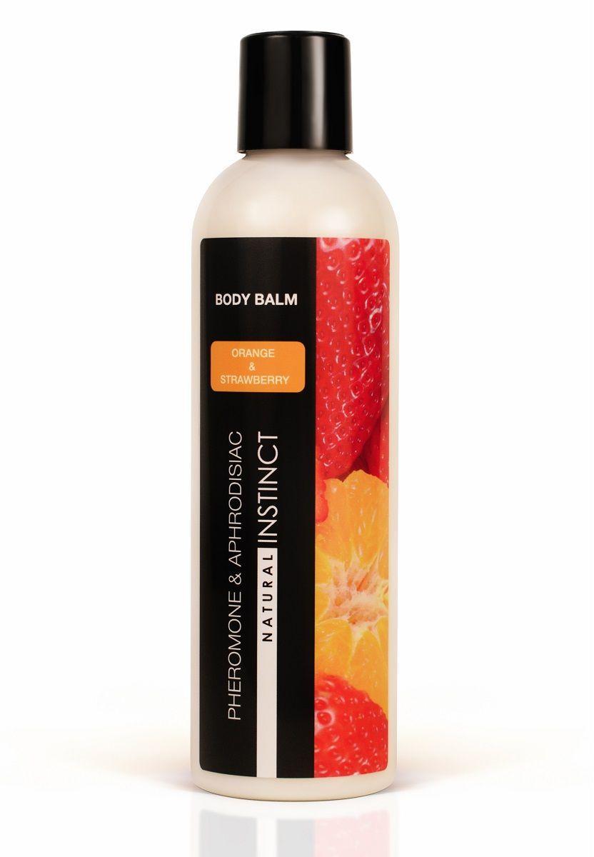 Бальзам для тела с феромонами Natural Instinct с ароматом клубники и апельсина - 250 мл.-9339