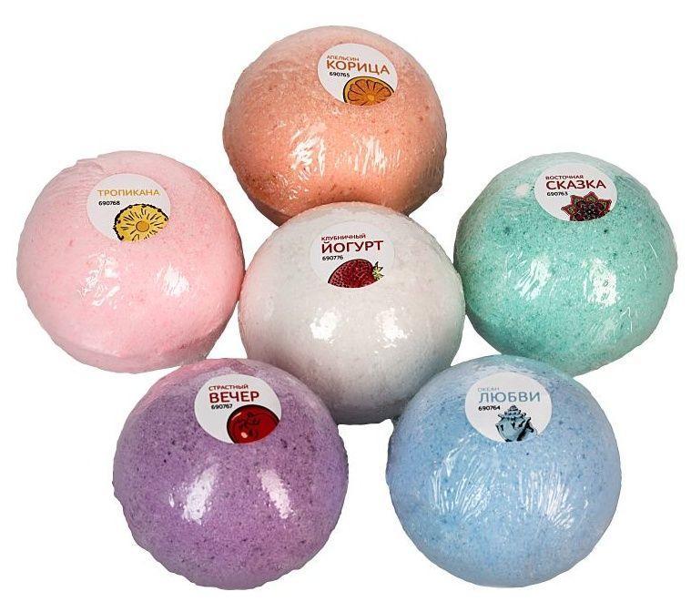 Бомбочки для ванны Клубничный йогурт - 5 шт.(118 гр.)-8048