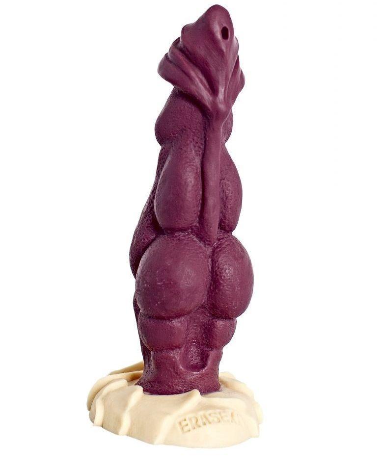Бордовый фаллоимитатор Дракон - 22 см.-8355