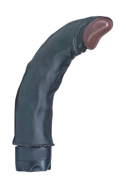 Чернокожий гнущийся вибратор WICKED WINSTON - 19 см.-7015