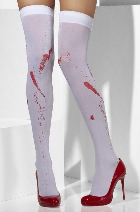 Чулки с имитацией пятен крови