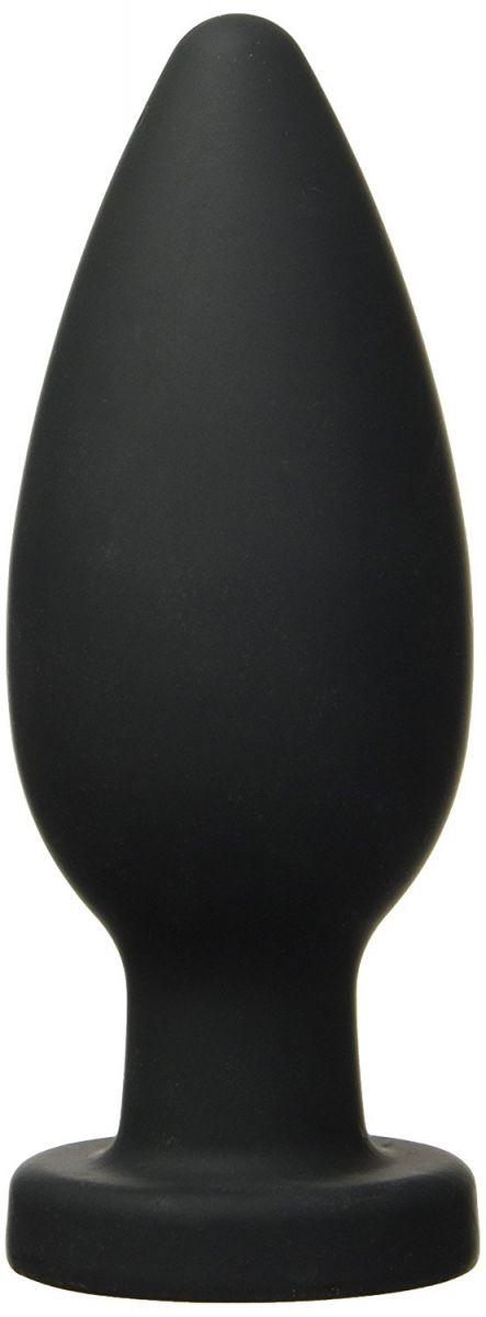 Чёрная анальная пробка XXL - 17