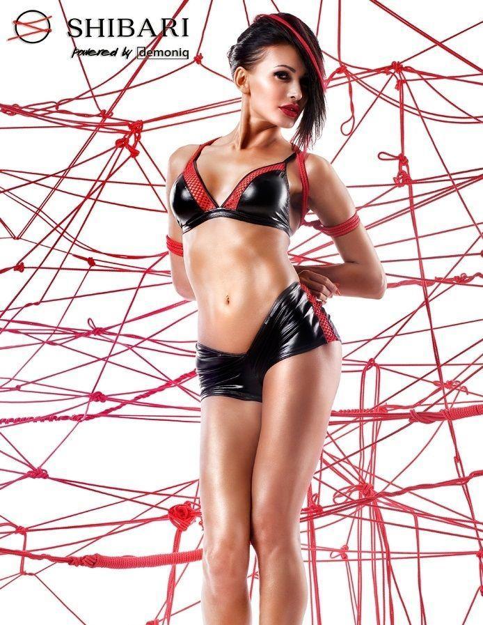 Чёрно-красный комплект Mari с веревками для связывания
