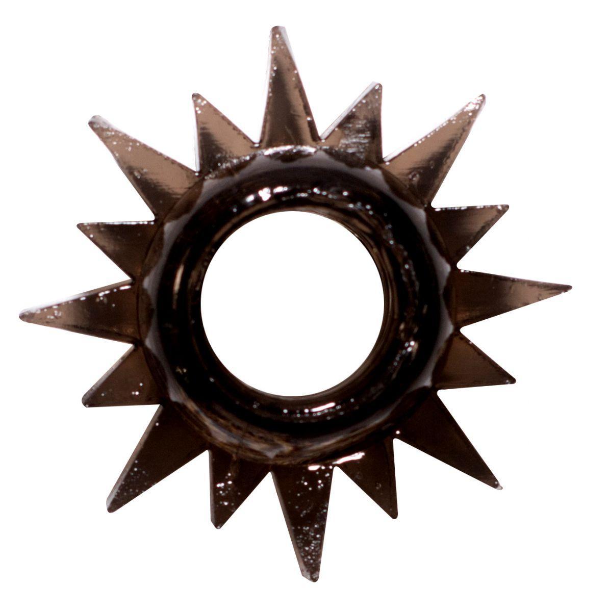 Чёрное эрекционное кольцо Rings Cristal-9108