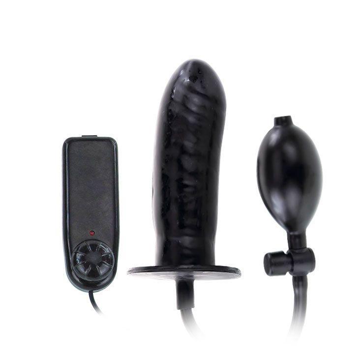 Чёрный расширяющийся анальный вибратор - 15