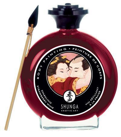 Декоративная крем-краска для тела с ароматом шампанского и клубники-3003