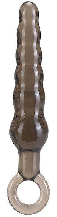 Дымчатая фигурная анальная ёлочка ANAL STICK - 14 см.-400