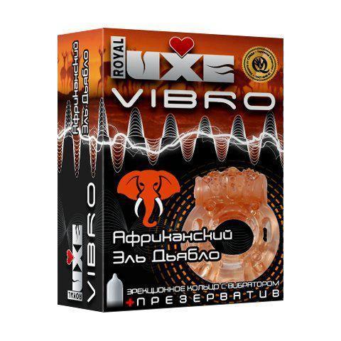 Эрекционное виброкольцо Luxe VIBRO Африканский Эль Дьябло-12508