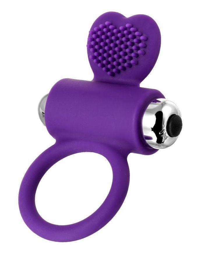 Фиолетовое виброкольцо с ресничками JOS PERY-11835