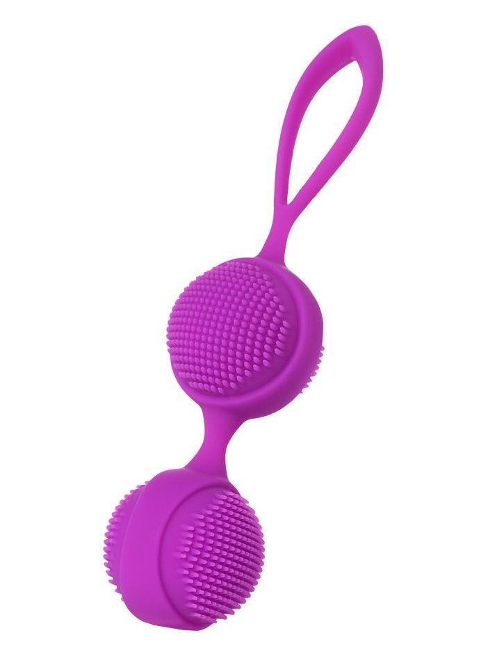 Фиолетовые вагинальные шарики с ресничками JOS NUBY-3897
