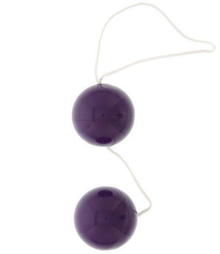 Фиолетовые вагинальные шарики VIBRATONE DUO BALLS PURPLE BLISTERCARD-798