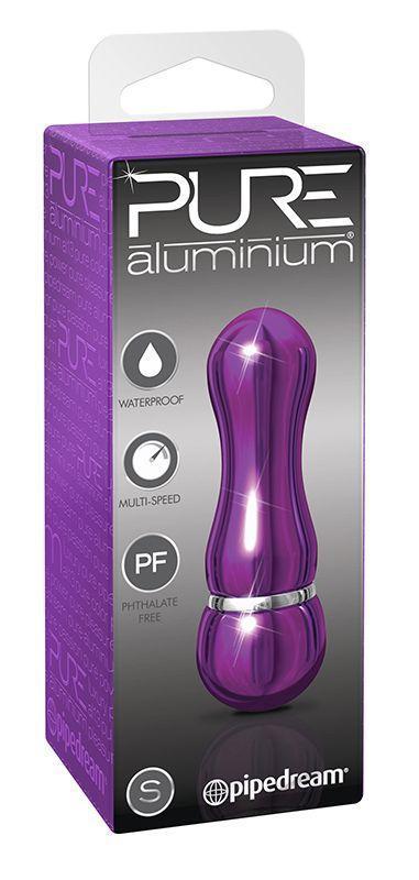 Фиолетовый алюминиевый вибратор PURPLE SMALL - 7