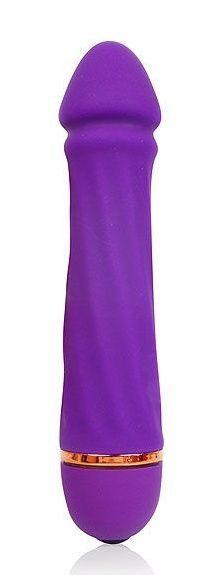Фиолетовый силиконовый вибратор Cosmo - 13 см.-7237