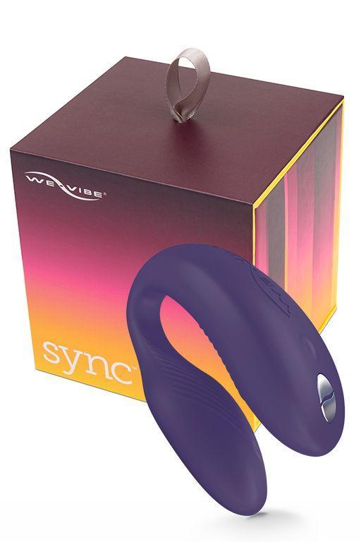 Фиолетовый вибромассажер для пар We-Vibe Sync Purple на радиоуправлении-4478