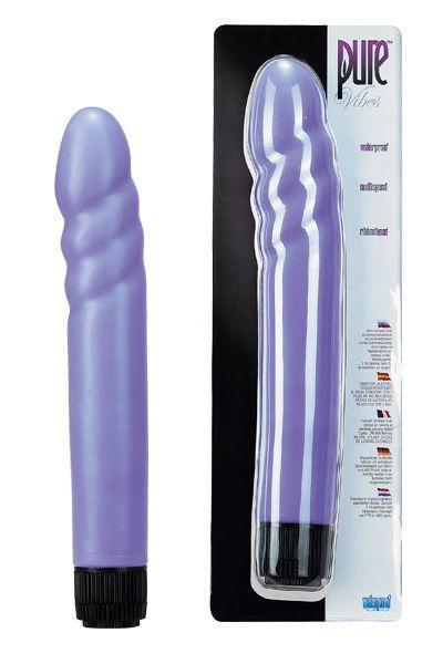 Фиолетовый водонепроницаемый вибромассажер Pure Vibes - 21