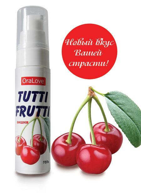 Гель-смазка Tutti-frutti с вишнёвым вкусом - 30 гр.-6843