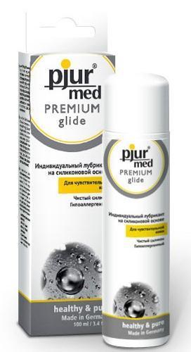 Гипоаллергенный силиконовый лубрикант pjur MED Premium glide - 100 мл.-1628