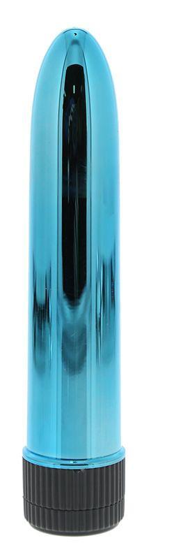 Голубой гладкий вибромассажёр KRYPTON STIX 5 MASSAGER M/S BLUE - 12