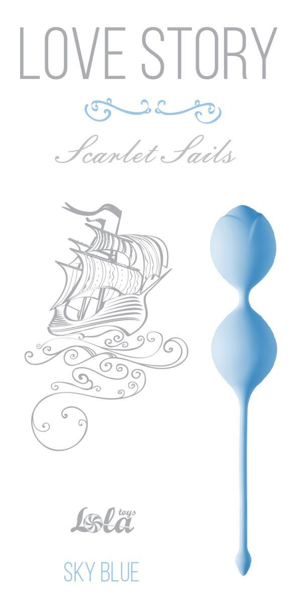 Голубые вагинальные шарики Scarlet Sails-5743