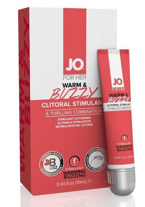 Клиторальный крем JO WARM BUZZY CLITORAL GEL - 10 мл.-5626