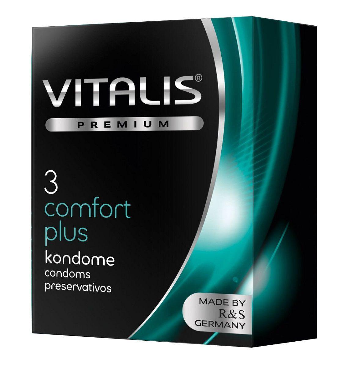 Контурные презервативы VITALIS PREMIUM comfort plus - 3 шт.