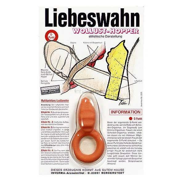 Красное эрекционное кольцо с подушечкой для клиторальной стимуляции-914