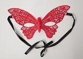 Кружевная маска в форме бабочки