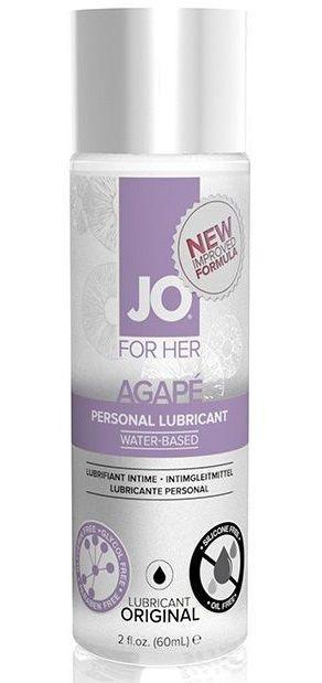 Лубрикант на водной основе для женщин JO AGAPE LUBRICANT ORIGINAL - 60 мл.-3865