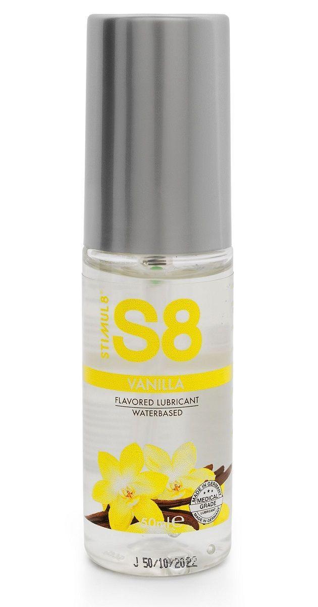 Лубрикант на водной основе S8 Flavored Lube со вкусом ванили - 50 мл.-11313