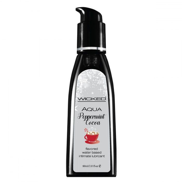 Лубрикант с ароматом мятного какао WICKED AQUA Peppermint Cocoa - 60 мл.-7301
