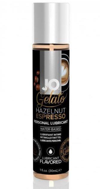 Лубрикант с ароматом орехового эспрессо JO GELATO HAZELNUT ESPRESSO - 30 мл.-5622