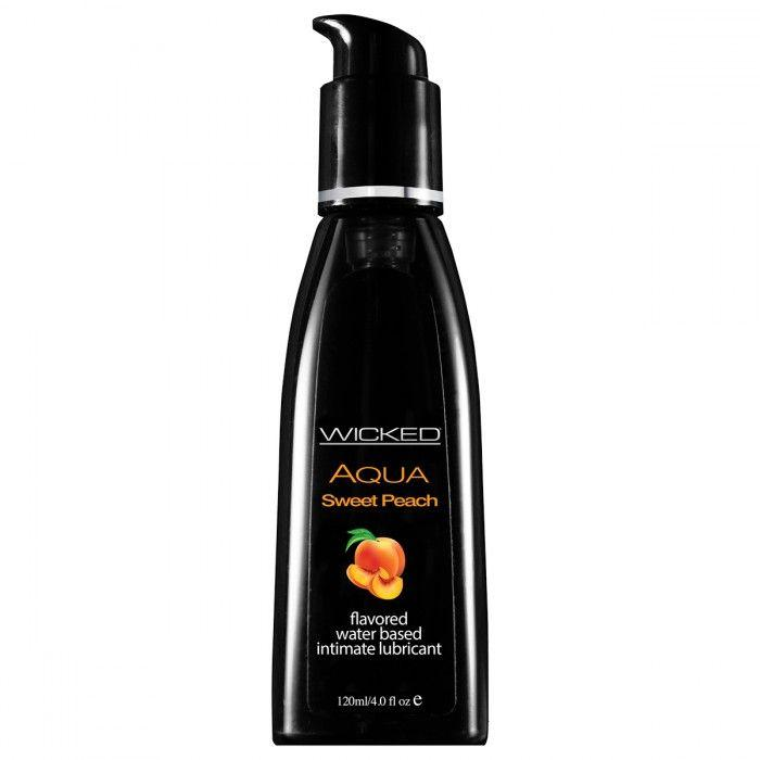 Лубрикант с ароматом спелого персика WICKED AQUA Sweet Peach - 120 мл.-7300