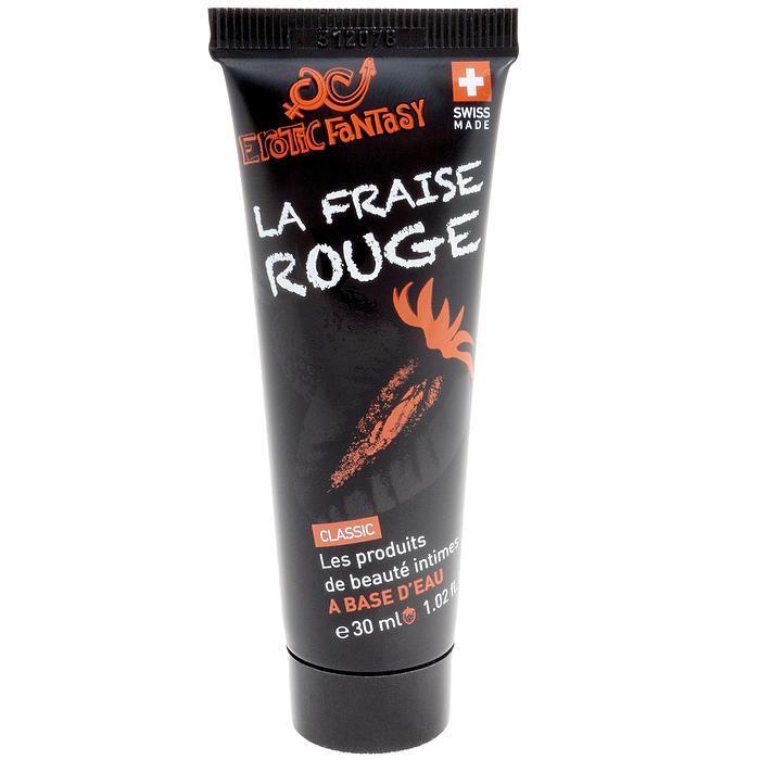 Лубрикант со вкусом клубники Erotic Fantasy La Fraise Rouge - 30 мл.-9627