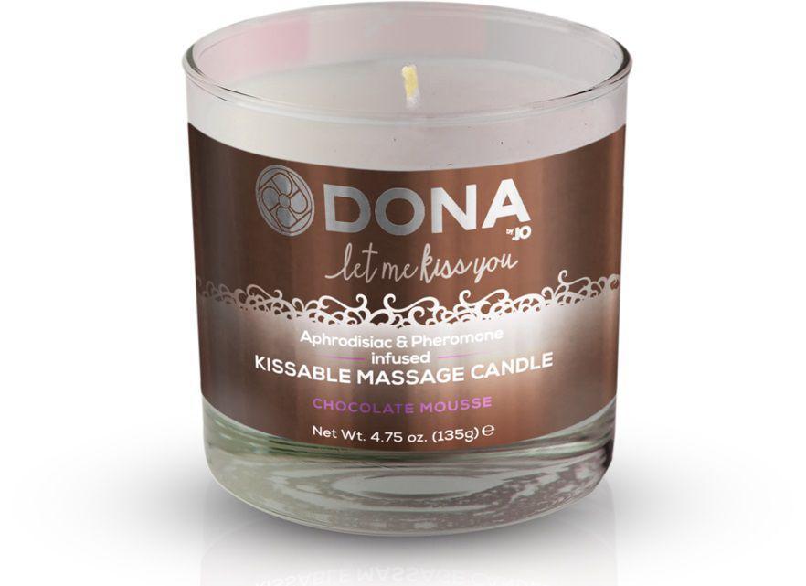 Массажная свеча DONA Chocolate Mousse с ароматом шоколадного мусса - 135 гр.-12846
