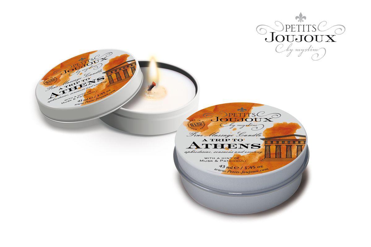 Массажная свеча Petits Joujoux Athens с ароматом муската и пачули - 33 гр.-11522