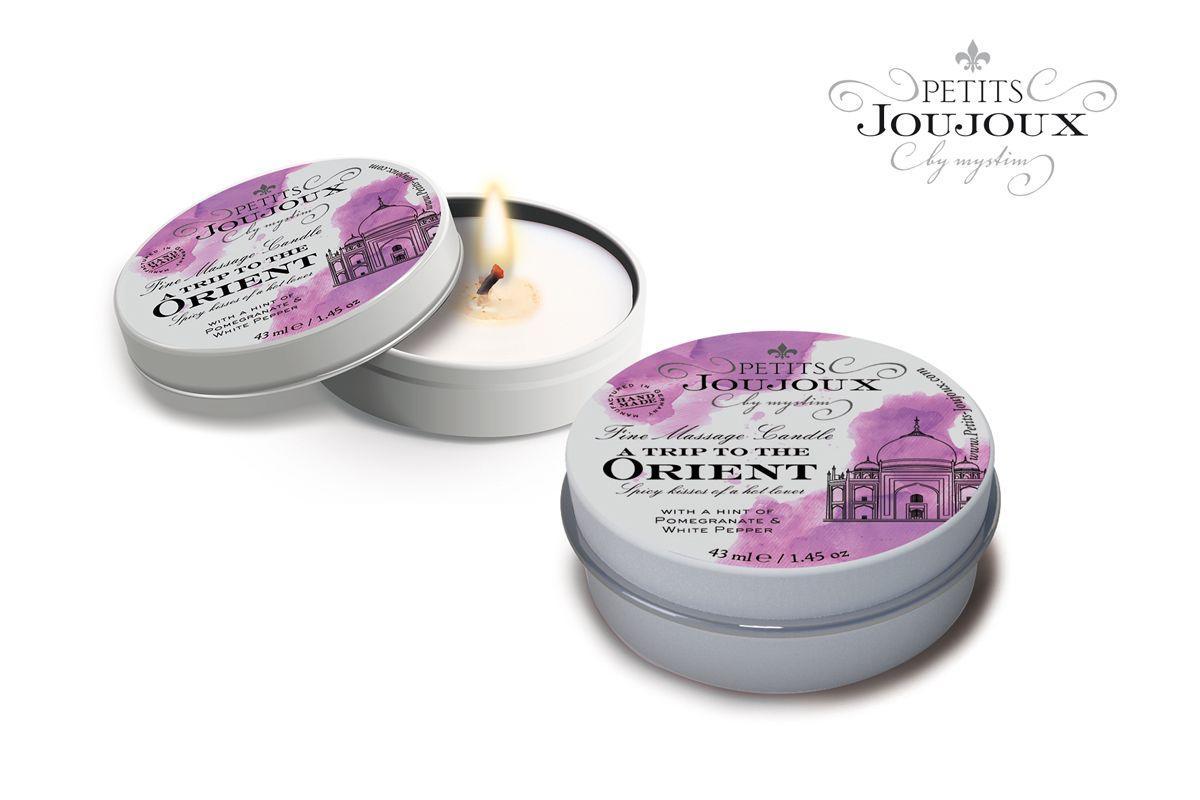 Массажная свеча Petits Joujoux Orient с ароматом граната и белого перца - 33 гр.-7386
