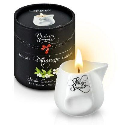 Массажная свеча с ароматом белого чая Jardin Secret D asie The Blanc - 80 мл.-7503