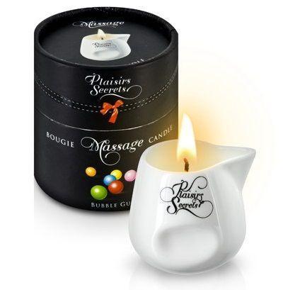 Массажная свеча с ароматом бубль-гума Bougie de Massage Gourmande Bubble Gum - 80 мл.-7524