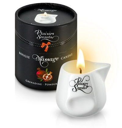 Массажная свеча с ароматом граната Bougie de Massage Gourmande Grenadine - 80 мл.-7518