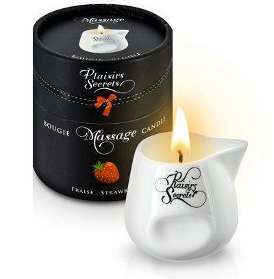Массажная свеча с ароматом клубники Bougie de Massage Gourmande Fraise - 80 мл.-7530