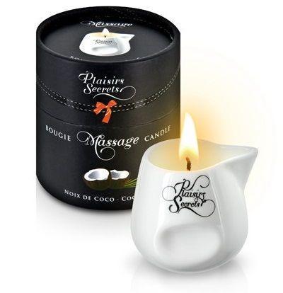 Массажная свеча с ароматом кокоса Bougie de Massage Gourmande Coco - 80 мл.-7533