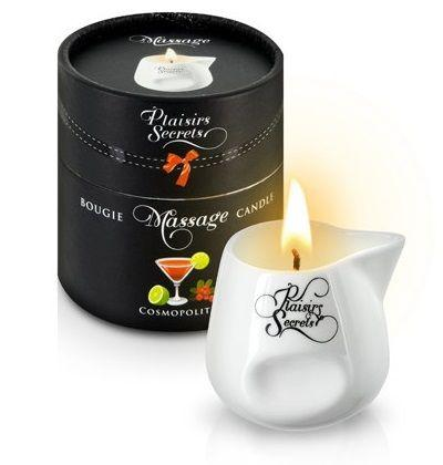 Массажная свеча с ароматом коктейля Космополитан Bougie de Massage Cosmopolitan - 80 мл.-7521