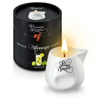 Массажная свеча с ароматом мохито Bougie de Massage Mojito - 80 мл.-7527