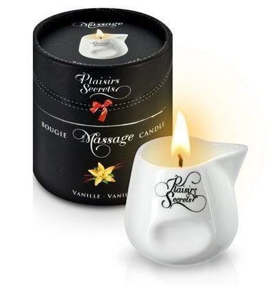 Массажная свеча с ароматом ванили Bougie Massage Gourmande Vanille - 80 мл.-7509