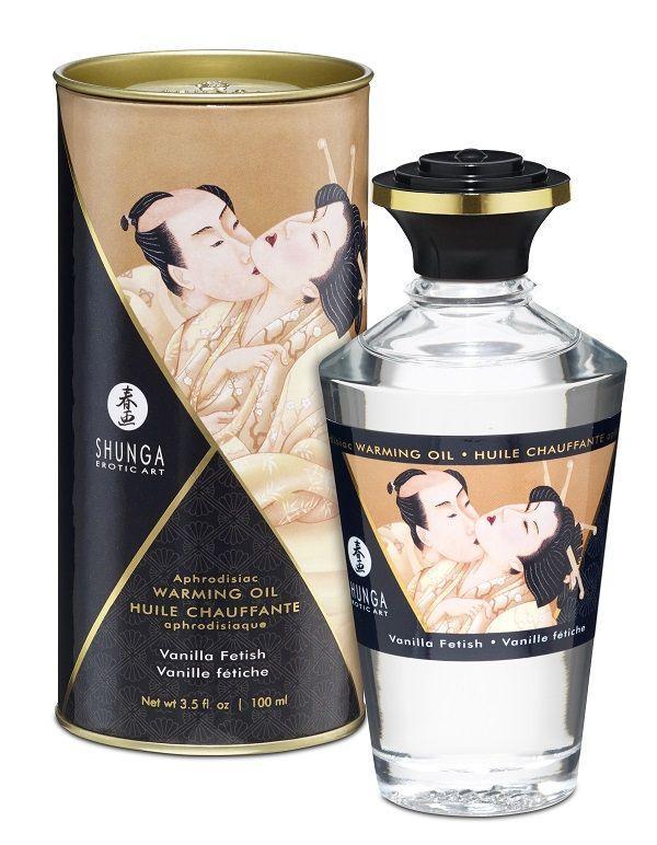 Массажное интимное масло с ароматом ванили - 100 мл.-9517