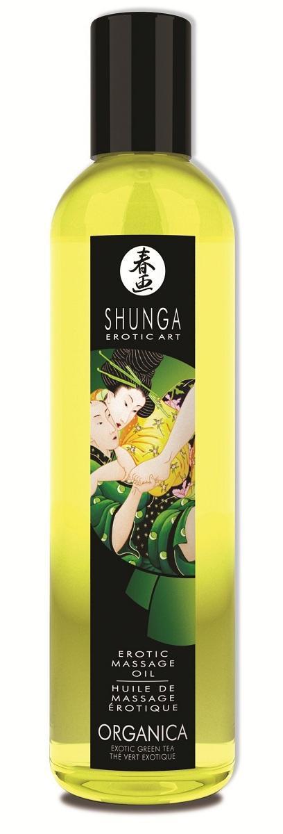 Массажное масло Organica с ароматом зеленого чая - 250 мл.-4362