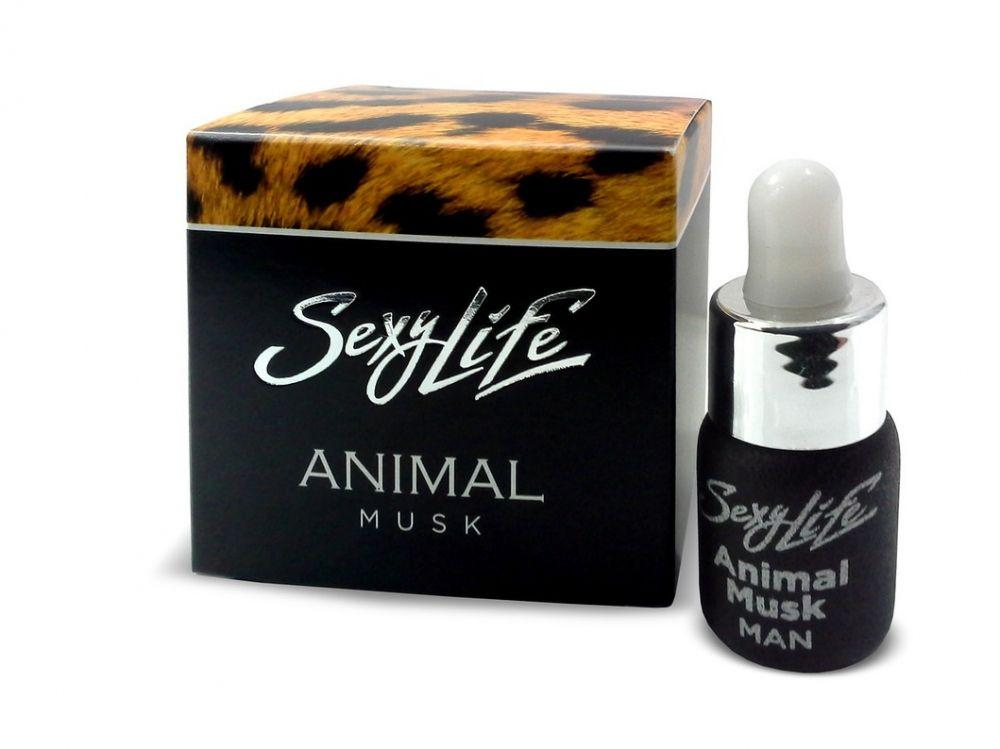 Мужские духи с феромонами Sexy Life Animal Musk - 5 мл.-3879
