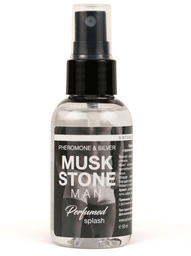 Мужской парфюмированный спрей для нижнего белья Musk Stone - 50 мл.-10483